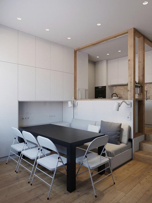 Không gian sống vỏn vẹn 25m² vẫn vô cùng phóng khoáng nhờ thiết kế bàn ghế siêu linh hoạt - Ảnh 3.