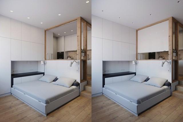Không gian sống vỏn vẹn 25m² vẫn vô cùng phóng khoáng nhờ thiết kế bàn ghế siêu linh hoạt - Ảnh 6.