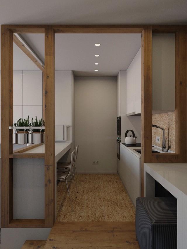 Không gian sống vỏn vẹn 25m² vẫn vô cùng phóng khoáng nhờ thiết kế bàn ghế siêu linh hoạt - Ảnh 7.
