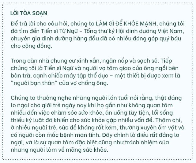 """TS Từ Ngữ: Bí quyết sống khỏe là một """"vòng tròn khép kín; con em chúng ta đang mất gốc! - Ảnh 1."""
