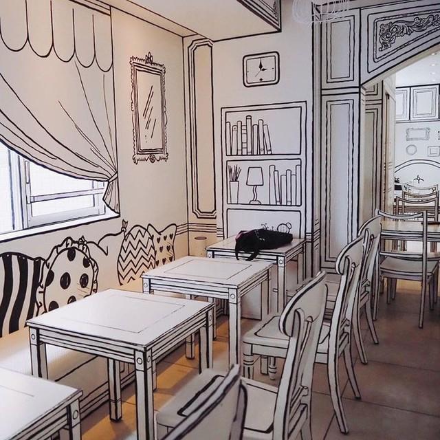 Đây là quán cafe ở Nhật Bản, không phải một trang truyện tranh bạn thường xem đâu - Ảnh 7.