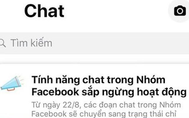 Tính năng chat trong Nhóm Facebook sắp ngừng hoạt động?