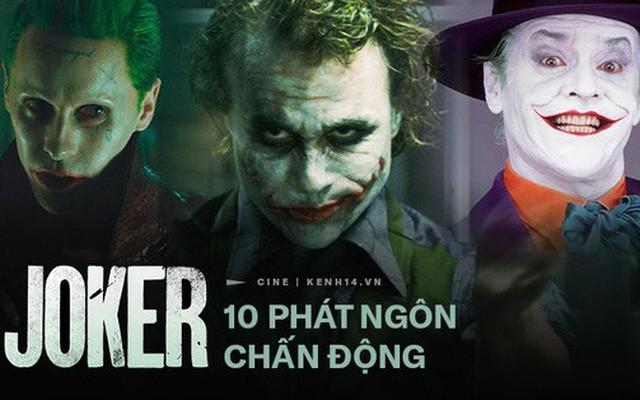 """10 câu thoại ghi vào lịch sử của Joker: """"Nếu bạn giỏi thứ gì đó đừng bao giờ làm nó miễn phí"""" trở thành tuyên ngôn thời đại"""