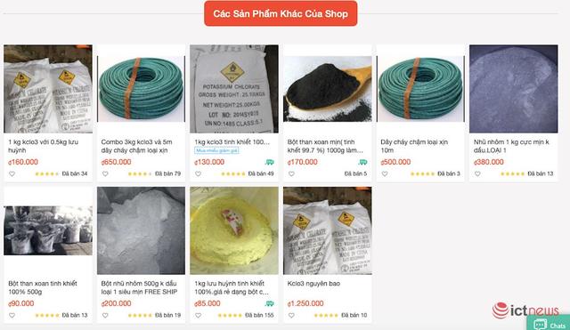 Bị cấm bán pháo, shop online bán… nguyên liệu làm pháo - Ảnh 2.
