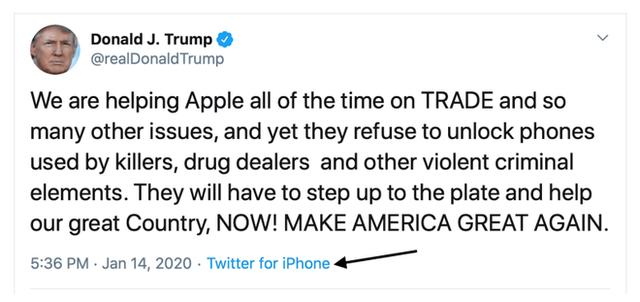 Đến lượt đích thân ông Trump yêu cầu Apple giúp đỡ mở khóa iPhone của nghi phạm khủng bố - Ảnh 1.