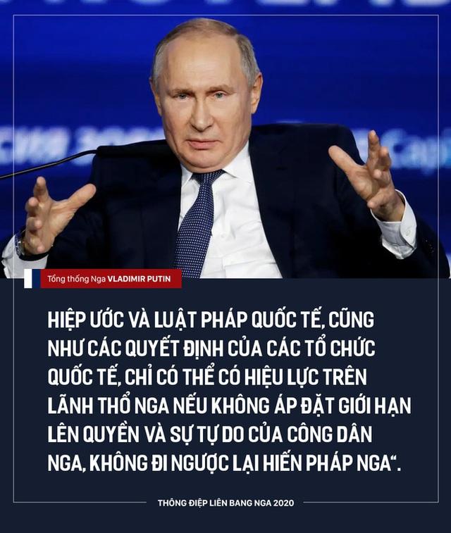 [NÓNG]: TT Putin đề xuất điều chỉnh quyền lực của Tổng thống, ưu tiên hiến pháp Nga hơn luật pháp quốc tế - Ảnh 1.