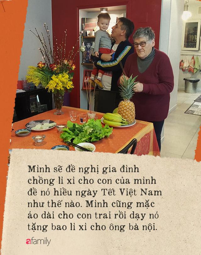 Gái Việt lấy chồng Tây: Chồng lao vào sắm sửa cho vợ bê cả Tết Việt Nam sang xứ người, phản ứng của bố mẹ chồng mới thú vị - Ảnh 9.