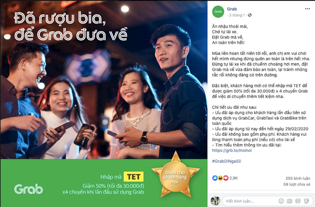 Grab, be, Go-Viet đua nhau kêu gọi dân nhậu đặt xe, Grab còn gửi tâm thư đến nhà hàng, quán nhậu - Ảnh 1.