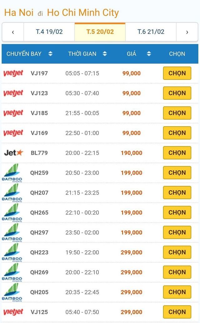 Giá vé máy bay đồng loạt giảm kỷ lục, Hà Nội – TP.HCM chỉ còn 199 ngàn đồng - Ảnh 2.