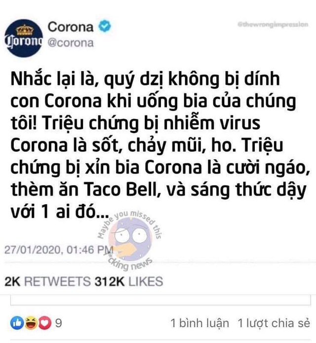 """Hãng bia Corona Extra """"dở khóc dở cười"""" vì dịch: Nằm im cũng bị réo tên, người Việt tìm kiếm nhiều nhất nhưng """"mừng"""" vì được marketing miễn phí - Ảnh 6."""