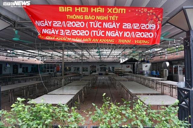 Hậu Nghị định 100 và Covid-19: Nhiều quán bia lớn ở Hà Nội đóng cửa - Ảnh 2.