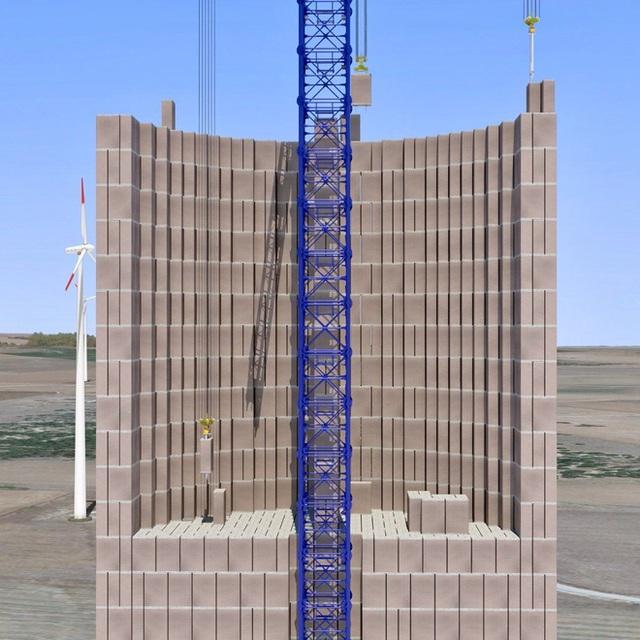 Dự án lưu trữ năng lượng tái tạo mới: cất điện trong cần cẩu tháp cao rồi sử dụng lực hấp dẫn của chính Trái Đất để tạo điện - Ảnh 2.