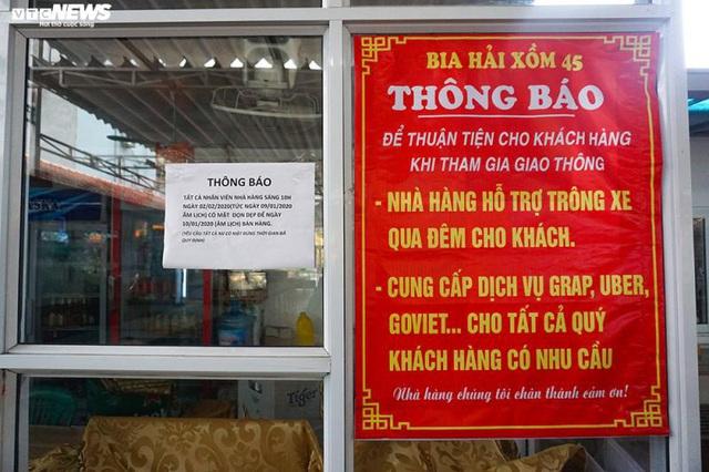 Hậu Nghị định 100 và Covid-19: Nhiều quán bia lớn ở Hà Nội đóng cửa - Ảnh 7.