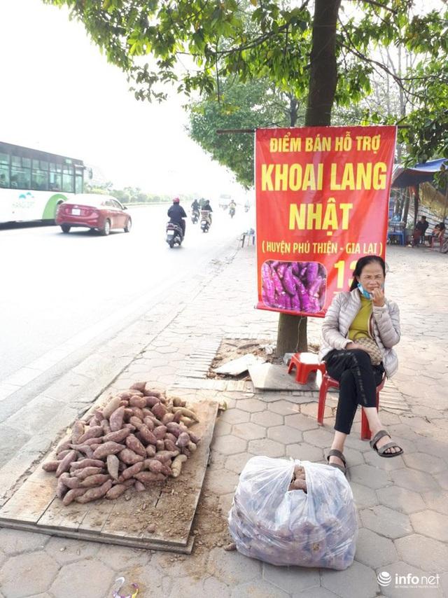 Khoai lang Nhật giải cứu đầy vỉa hè Hà Nội, thương nhân bán giá 13.000 đồng/kg - Ảnh 5.