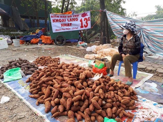 Khoai lang Nhật giải cứu đầy vỉa hè Hà Nội, thương nhân bán giá 13.000 đồng/kg - Ảnh 6.