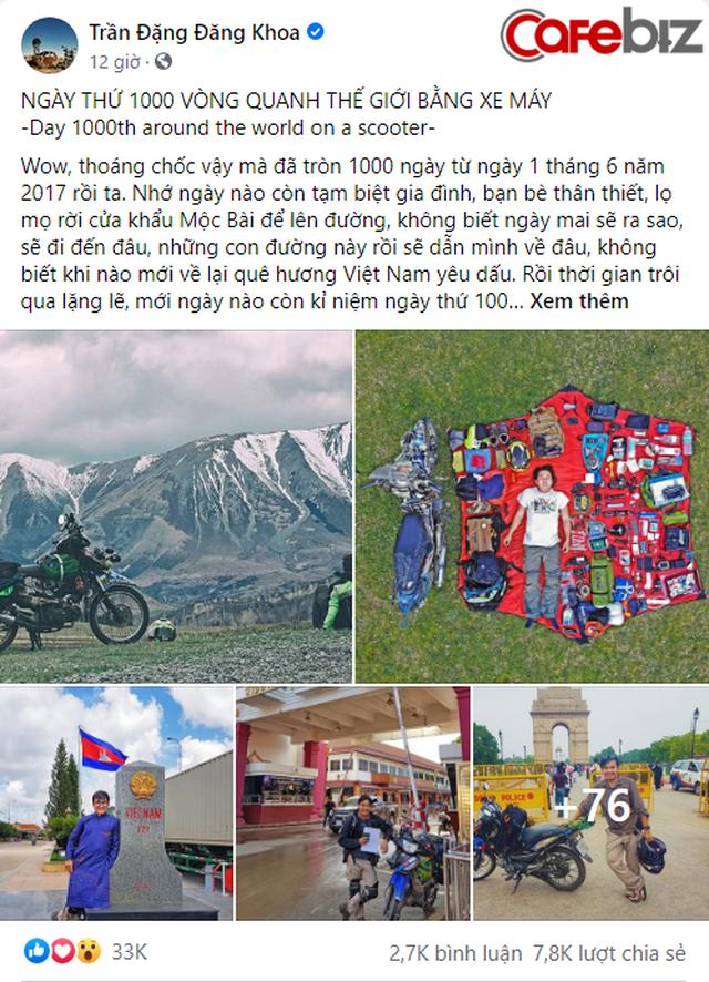 Phượt thủ Trần Đặng Đăng Khoa kỉ niệm 1000 ngày vòng quanh thế giới bằng xe cà tàng - Ảnh 2.