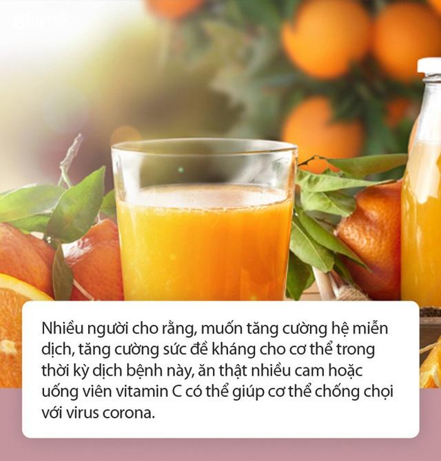 Uống nước cam hay uống nhiều viên vitamin C có giúp chống được virus corona không? - Ảnh 1.