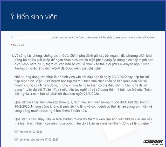 Không biết cho sinh viên đi học hay nghỉ tiếp, Đại học Bách Khoa Hà Nội tổ chức trưng cầu dân ý online - Ảnh 2.