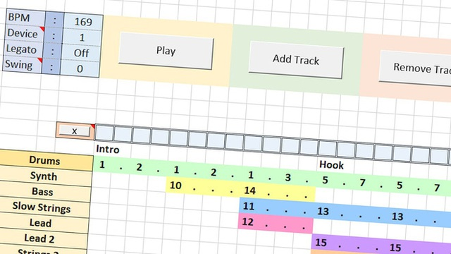 Giờ đây, bạn đã có thể làm nhạc trên Excel như trên các phần mềm làm nhạc chuyên nghiệp - Ảnh 3.
