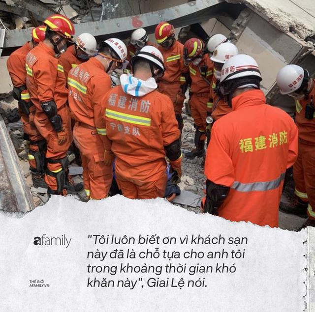 Dưới đống đổ nát của khách sạn cách ly ở Trung Quốc: Người đến từ vùng dịch chưa được giải cứu, người nằm bên chân con đợi đoàn tụ chồng - Ảnh 2.