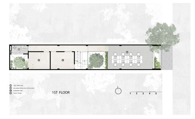 Sau chuyển đổi công năng, nhà ống bề ngang chưa đến 4 m trở thành văn phòng làm việc sang chảnh - Ảnh 14.