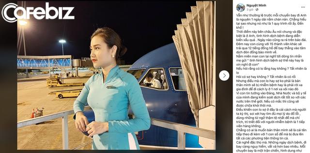 Quyết không nghe mẹ xin nghỉ làm mà vẫn cùng đồng đội bay thẳng vào tâm dịch Covid-19 đón đồng bào về, nữ TVHK Vietnam Airlines: Con không nghỉ được, và sẽ không nghỉ trừ khi điều kiện sức khoẻ của mình không đủ để đi bay - Ảnh 1.