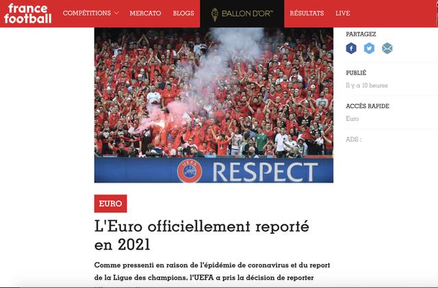 Truyền thông thế giới sốt vì EURO lẫn Copa America 2020 cùng bị hoãn  - Ảnh 6.