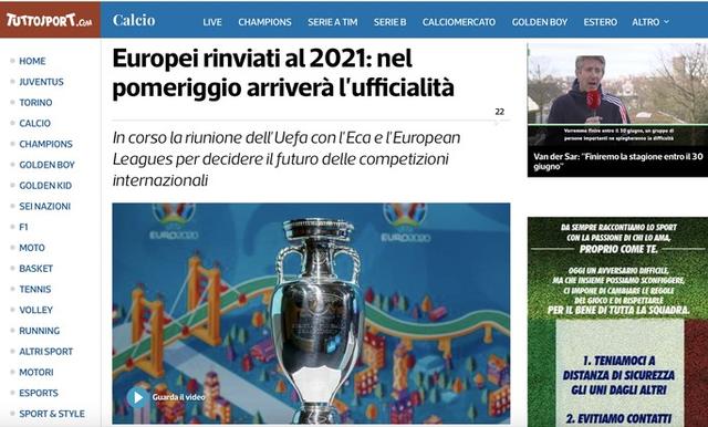 Truyền thông thế giới sốt vì EURO lẫn Copa America 2020 cùng bị hoãn  - Ảnh 7.