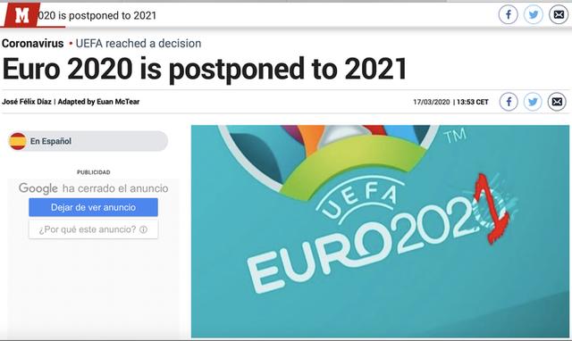 Truyền thông thế giới sốt vì EURO lẫn Copa America 2020 cùng bị hoãn  - Ảnh 8.
