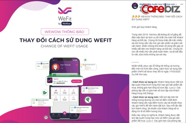 Sau scandal nợ tiền đối tác và bị tố lừa đảo, startup WeFit vượt bão bằng cách thay đổi chính sách sử dụng: Người đang tập 2 năm giờ còn 4 tháng, 60 buổi tập rút còn 6 buổi, hàng trăm khách hàng la ó đòi tiền, gọi tên cú lừa WeFit - Ảnh 1.