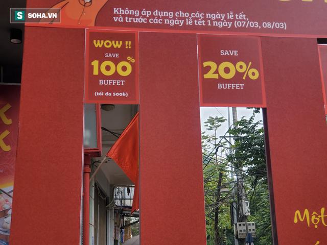 Nhà hàng buffet Hà Nội bán theo size khách: Chui lọt khe rộng 14,5cm giảm giá 500.000 đồng - Ảnh 2.