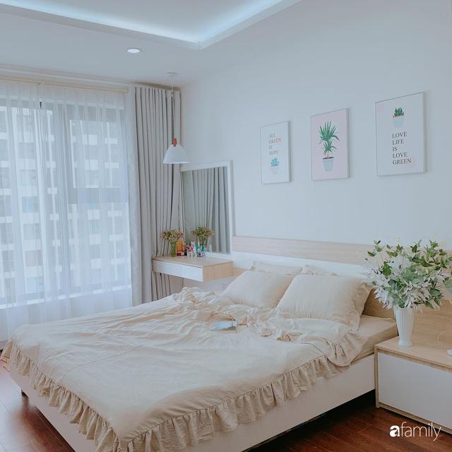 Căn hộ 90m² như được nhân đôi không gian nhờ cách decor khéo léo với sắc trắng ở Hà Nội - Ảnh 14.