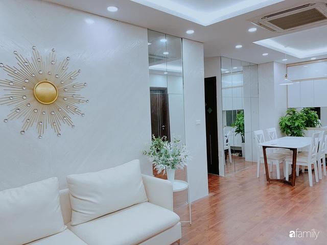 Căn hộ 90m² như được nhân đôi không gian nhờ cách decor khéo léo với sắc trắng ở Hà Nội - Ảnh 9.