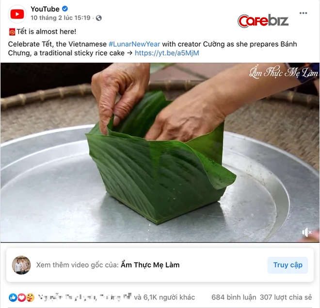 """Video gói bánh chưng ngày Tết của Ẩm thực mẹ làm được Fanpage YouTube 100 triệu followers """"khoe"""" với toàn thế giới 2"""