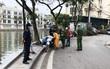 Hà Nội xử lý hàng loạt người không đeo khẩu trang nơi công cộng