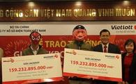Hai khách hàng ở Thái Bình, Bến Tre chia đôi giải Jackpot 159 tỷ đồng