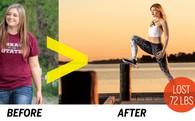 Từng nặng 1 tạ, bí quyết nào giúp cô gái giảm tới 36 kg trong 4 tháng mà chẳng cần phải ăn kiêng?
