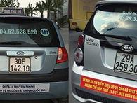 Cùng với TPHCM, Hà Nội yêu cầu taxi gỡ biểu ngữ phản đối Grab, Uber
