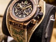 Chiếc đồng hồ Hublot đặc biệt từ da hươu tinh tế và cổ điển, trên thế giới chỉ có 100 chiếc được làm thủ công hoàn toàn