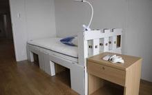 Nhật Bản lắp giường giấy ngăn vận động viên Olympic 'mây mưa'