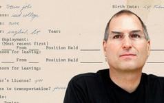 Steve Jobs viết sai cả tên công ty HP trong đơn xin việc của mình cách đây 45 năm