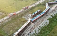 Toàn cảnh vụ tai nạn đường sắt kinh hoàng ở Thanh Hóa từ flycam