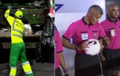 Vị trọng tài World Cup có nghề chính là công nhân thu gom rác