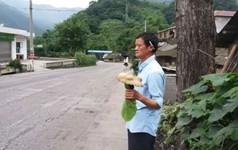 Bản sao tỉ phú Jack Ma đứng giữa đường bán nấm dại Thế giới