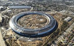 """""""Tàu vũ trụ"""" Apple Park lần đầu khoe khu cafe cực xịn: Cửa kính vòng cung khổng lồ tự động, đúng chất phi thuyền không gian"""