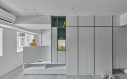 Căn hộ 22m² tối đa hóa không gian nhờ màu trắng kết hợp với hệ tủ lưu trữ thông minh