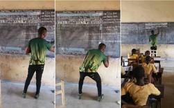 Đăng ảnh dạy MS Word bằng cách vẽ hình, thầy giáo châu Phi nổi tiếng trên Internet, được Microsoft tặng máy tính