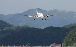 Toàn cảnh cảng hàng không quốc tế Vân Đồn trong ngày đón chuyến bay hiệu chuẩn đầu tiên