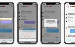 Facebook Messenger đã cho phép xóa tin nhắn đã gửi, nhưng chỉ trong 10 phút