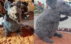 Hình ảnh linh vật chuột mình đầy lông lá chưng Tết ở Củ Chi khiến bất kì chú mèo nào nhìn thấy cũng phải khóc thét